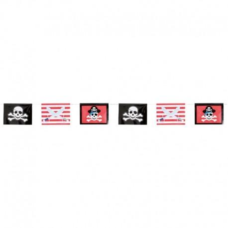 Banderines Espadas y Calveras Pirata